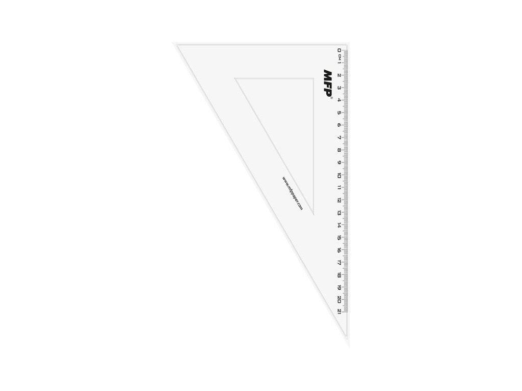 pravítko trojúhelník 30-60 bez závěsu čiré 5310116