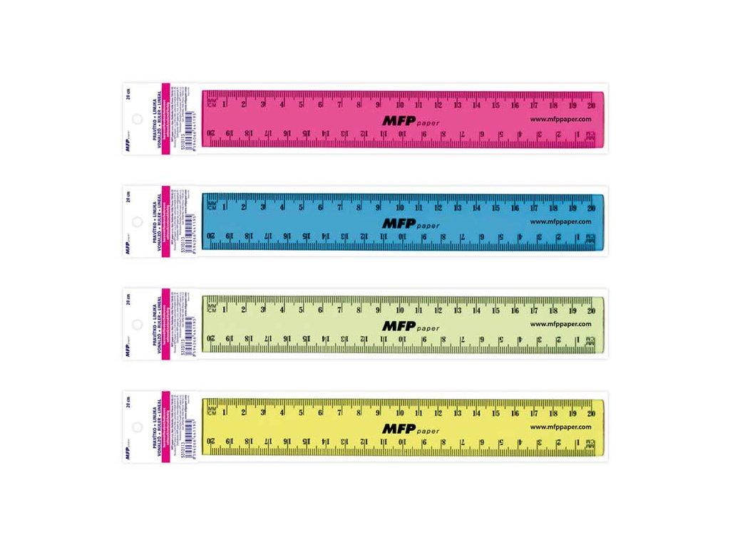 pravítko 200 mm COLOURS 5310113