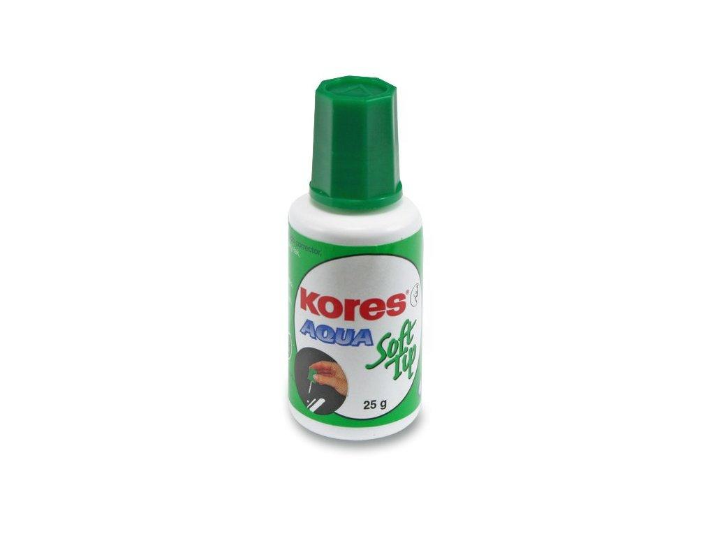 Opravný lak Kores Aqua Soft houbička, 25 g