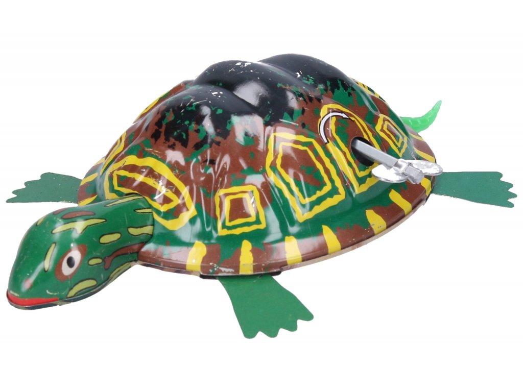 Želva natahovací kovová 10x7 cm