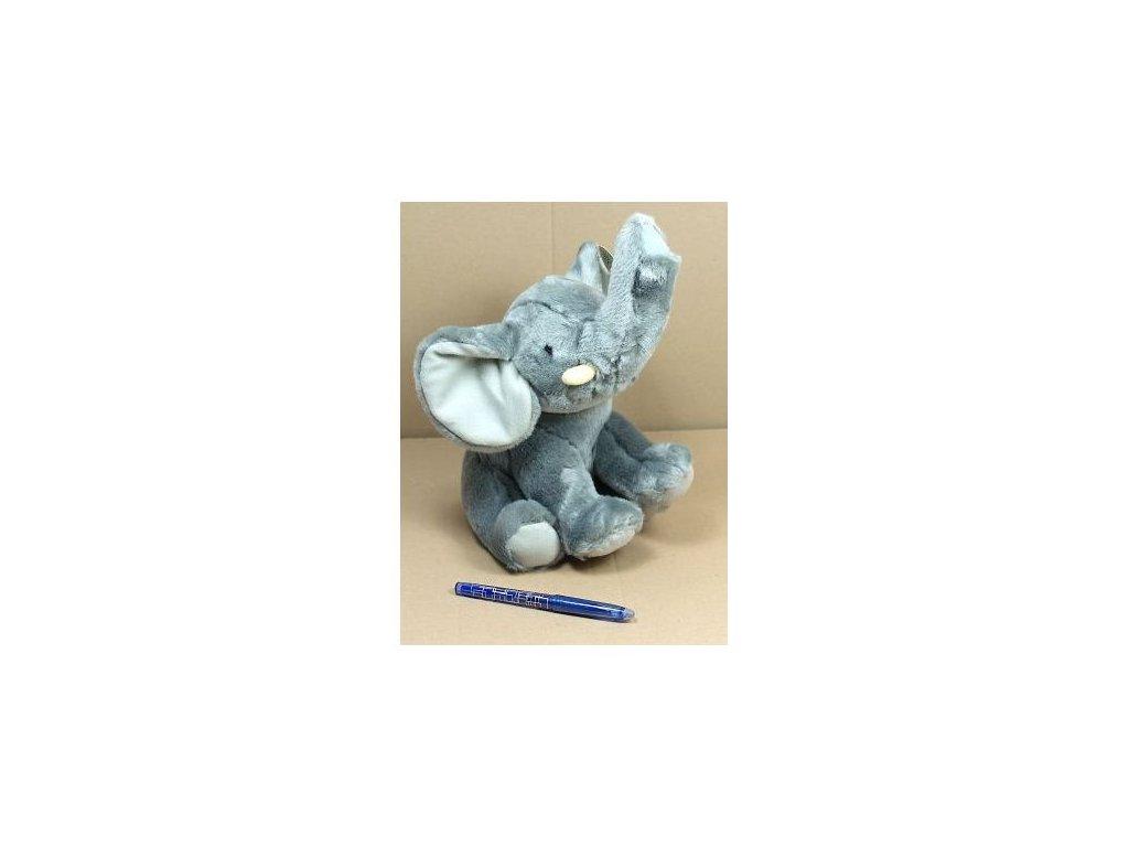 Slon plyšový 23cm sedící 0m+  ***
