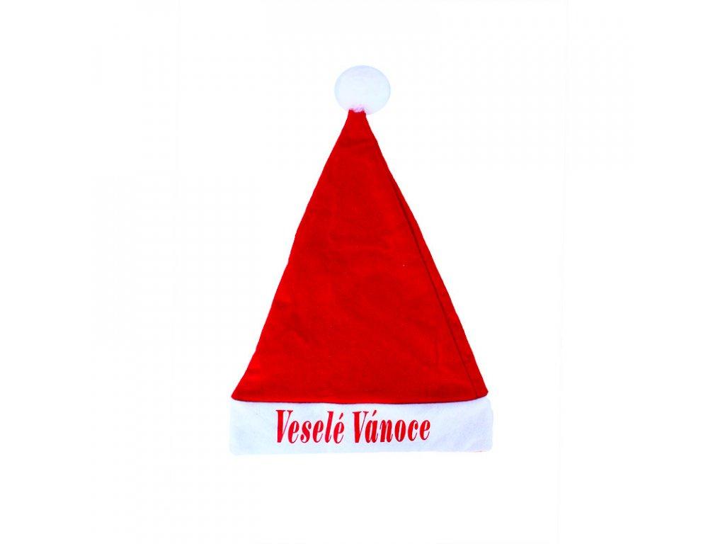 Vánoční čepice s nápisem Veselé Vánoce