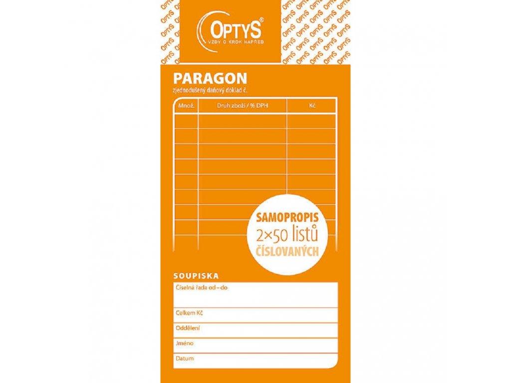 Paragon obchodní, 2x50 l., čísl., NCR - 1089