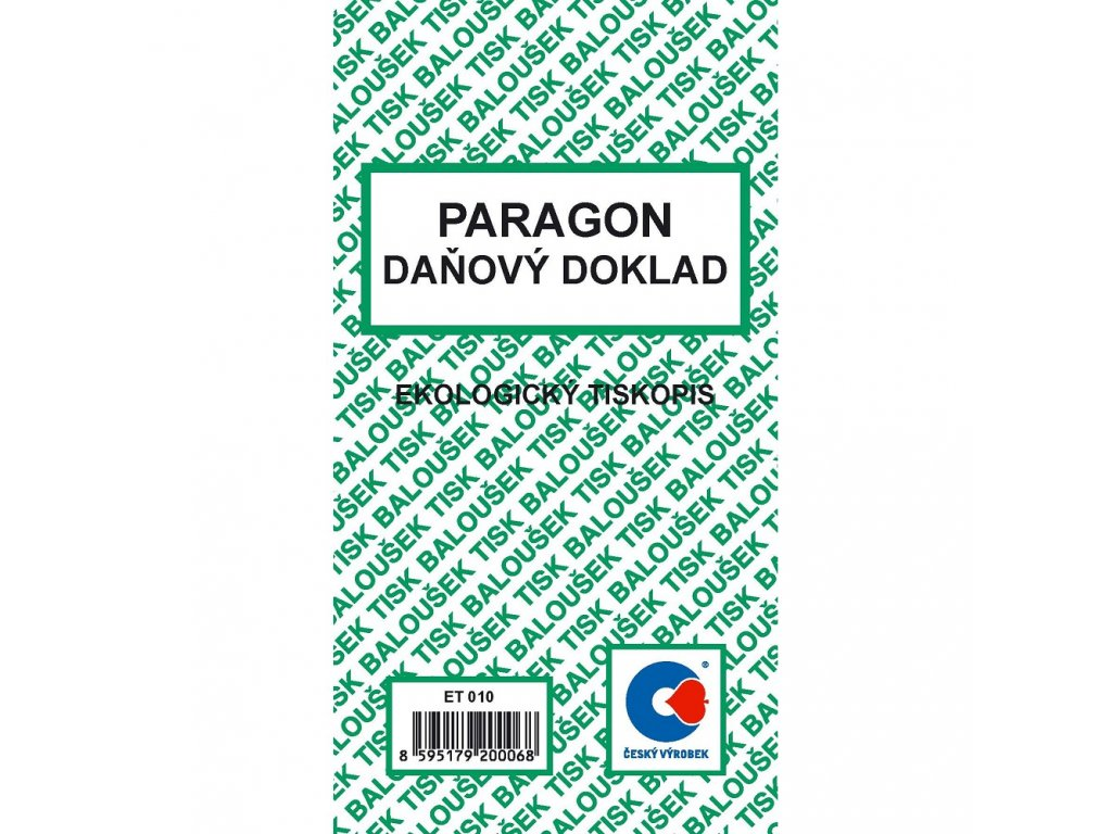 Paragon-daňový doklad - ET010