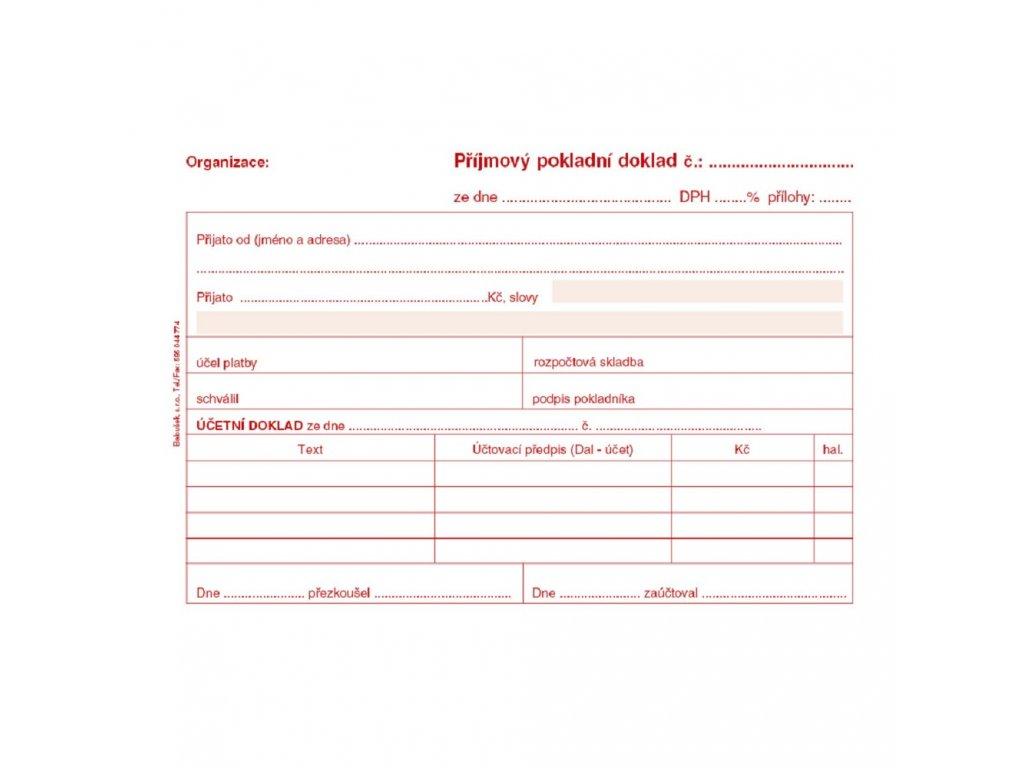 Příjmový pokladní doklad i pro PÚ A6 - PT030