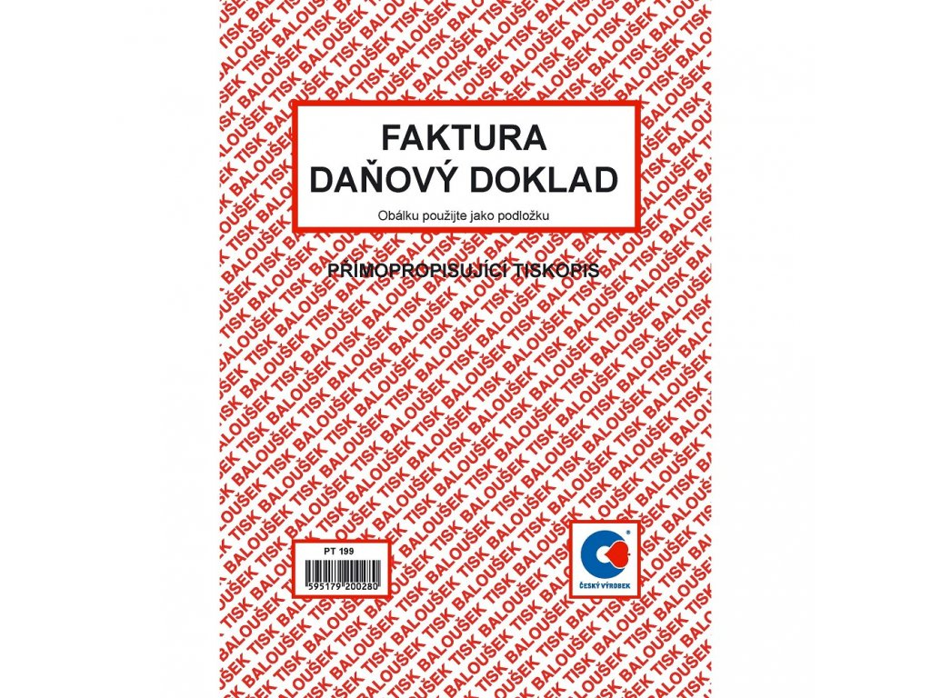 Faktura - daňový doklad A5 - PT199