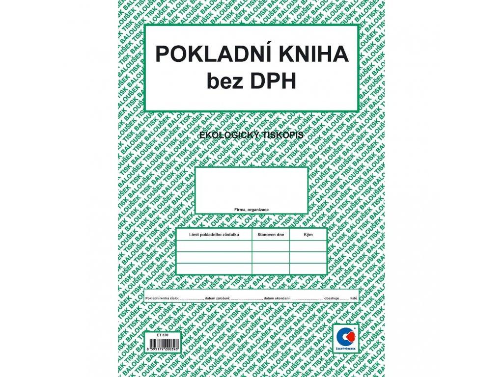 Pokladní kniha bez DPH A4 - ET378
