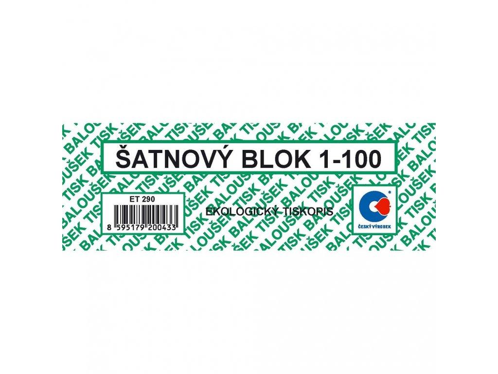 Šatnové bloky 1-100 čísel - ET290