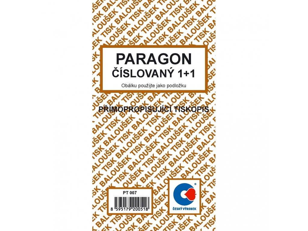 Paragon číslovaný - PT007