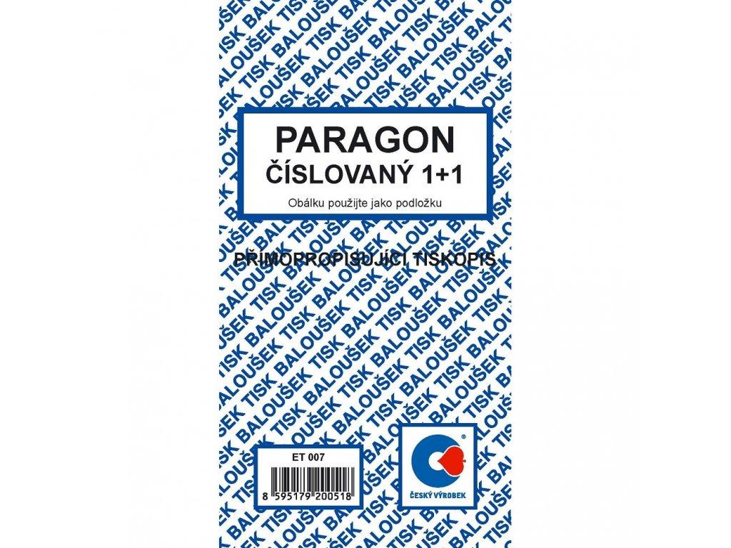 Paragon číslovaný - ET007