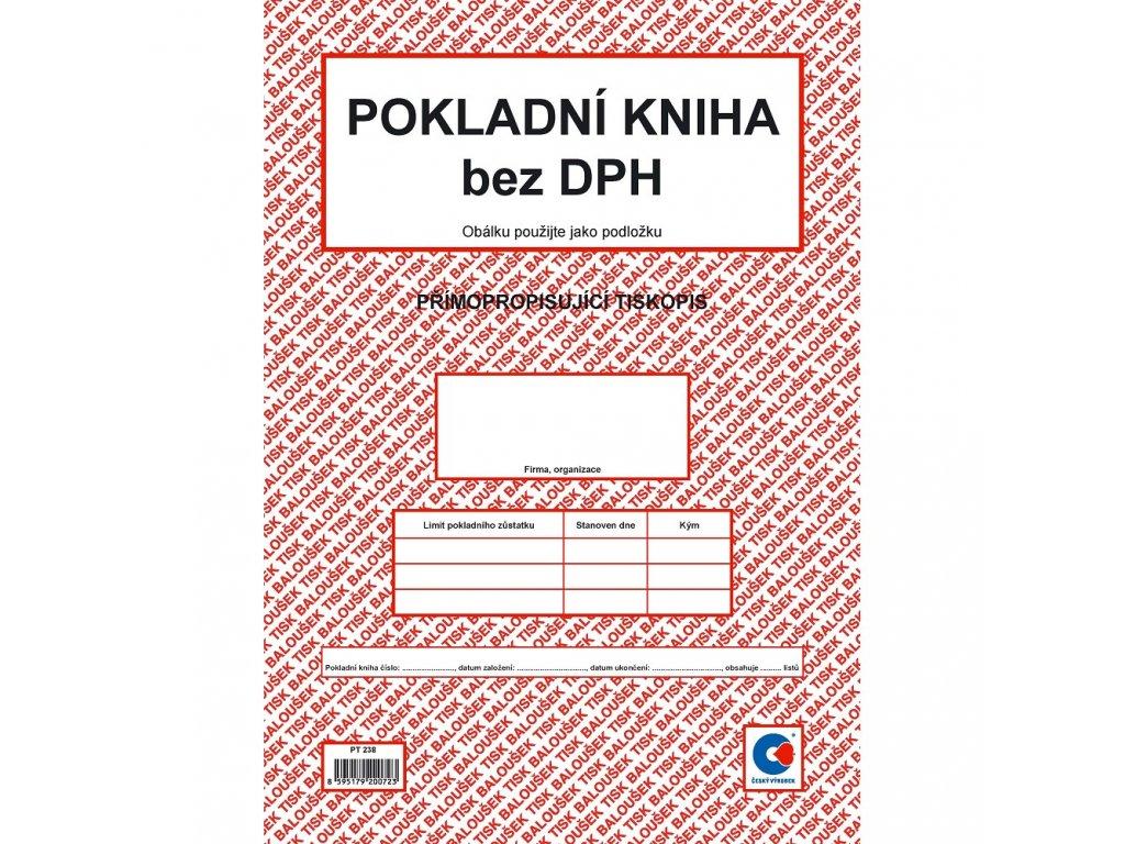 Pokladní kniha bez DPH A4 - PT238