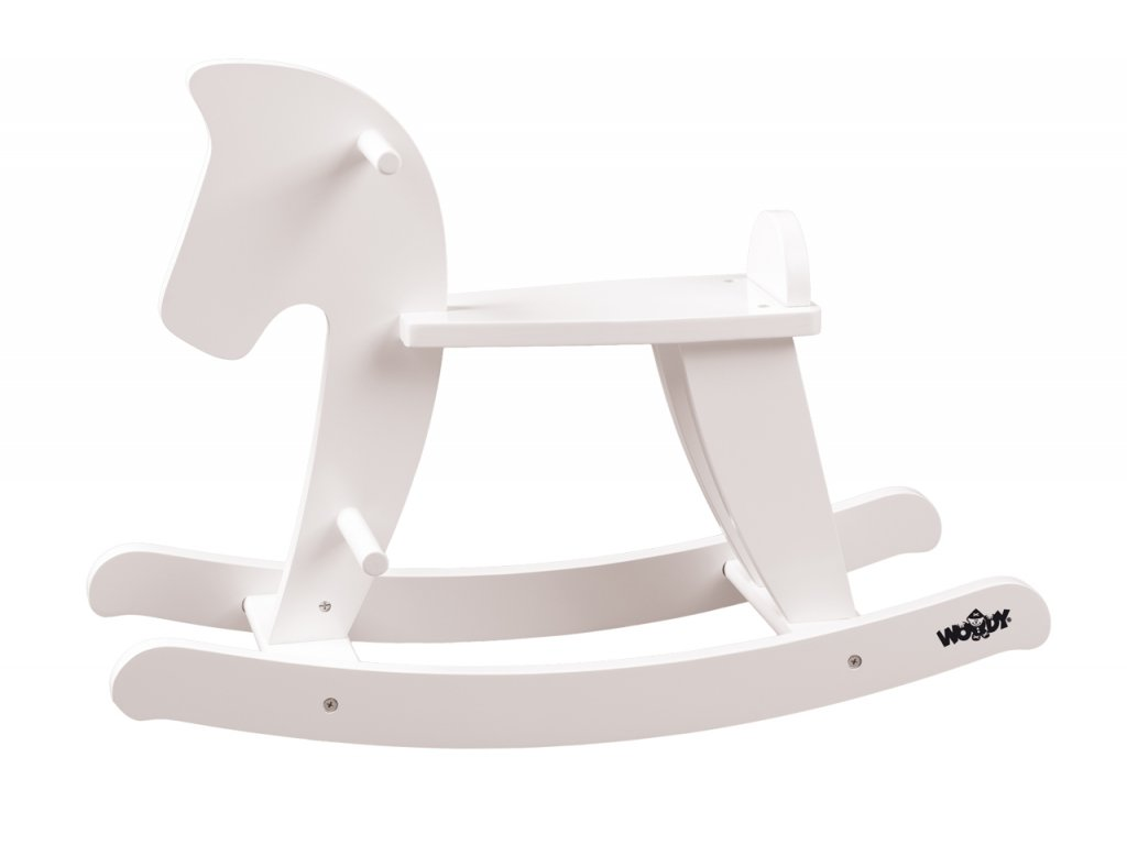 Houpací kůň – bílý