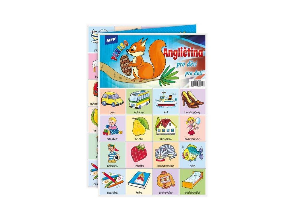 Pexeso 3xA4 Angličtina pro děti