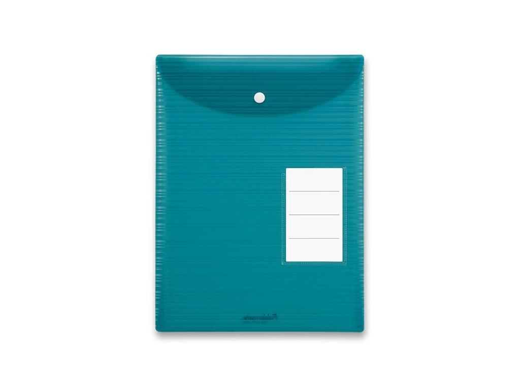 Spisovka s drukem Foldermate iWork s horním plněním, modrozelená, A4