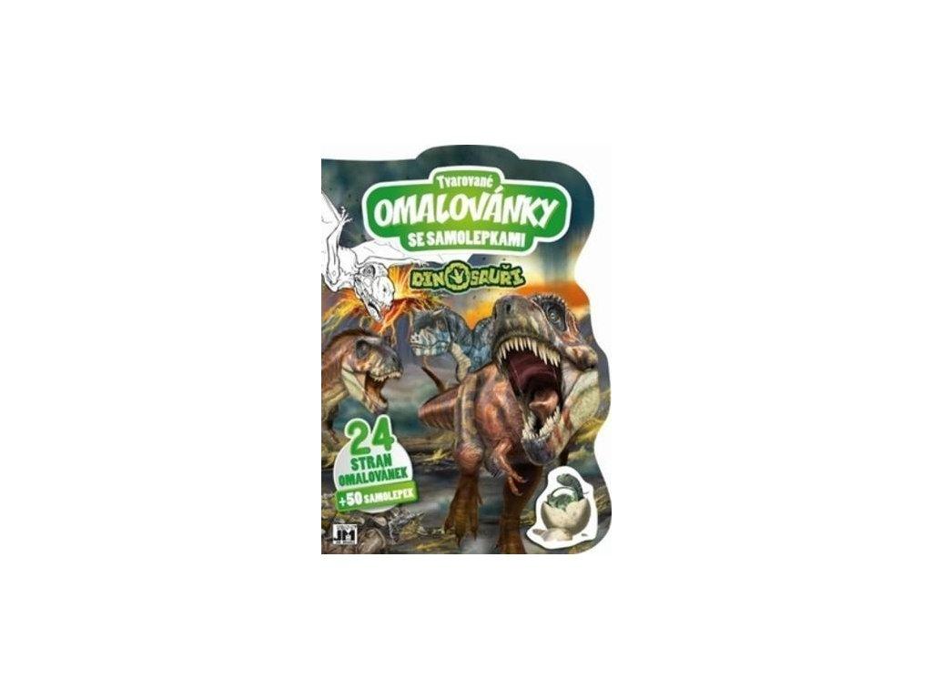 Omalovánky se samolepkami Dinosauři