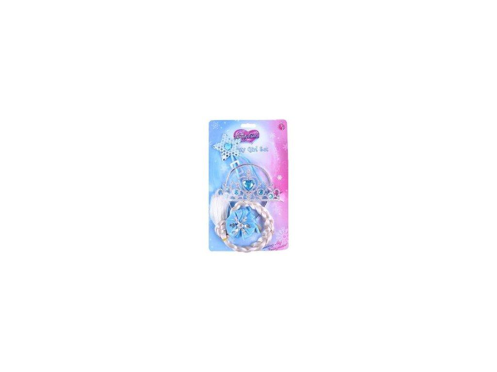 princezna zimni kralovstvi set korunka s copem a hulkou na karte plast 11363399