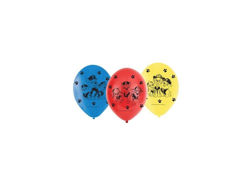0009071 latexove balonky tlapkova patrola 6 ks