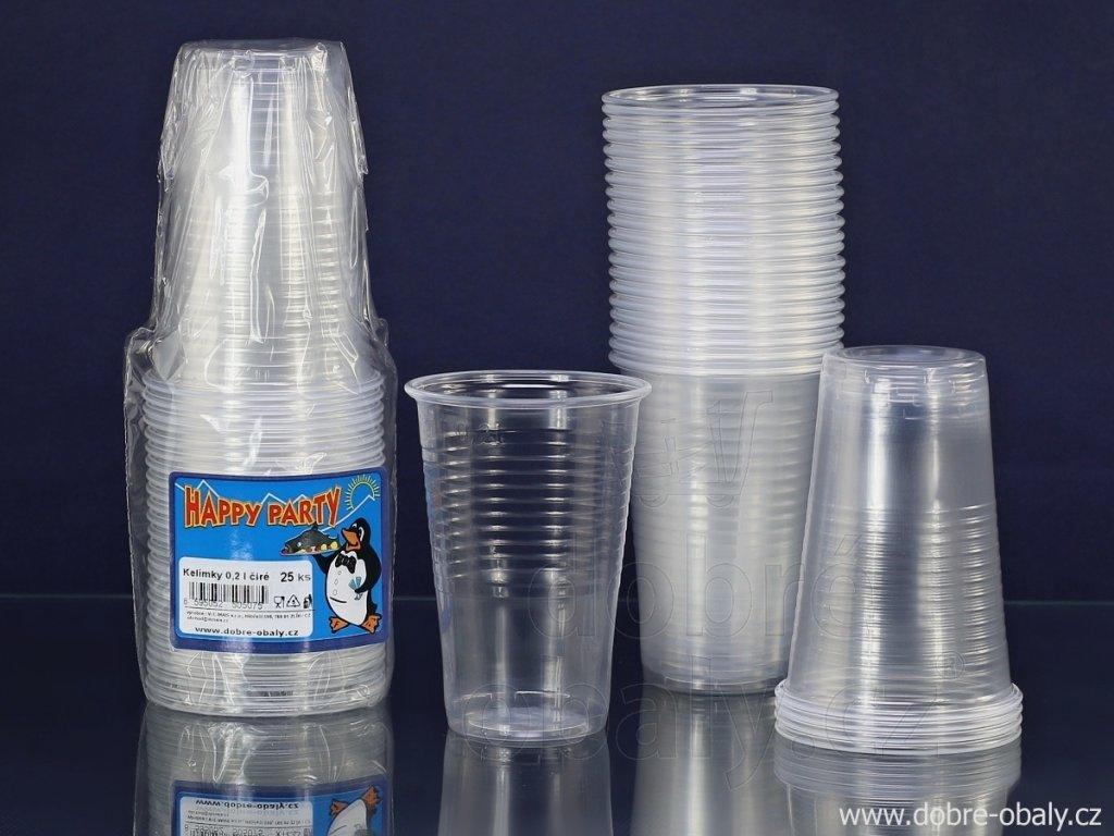 kelimky plastove cire 0 2 l happy party 25 ks 1034 1