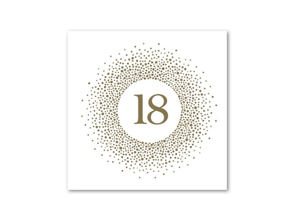 Ubrousky - zlatý puntík 18