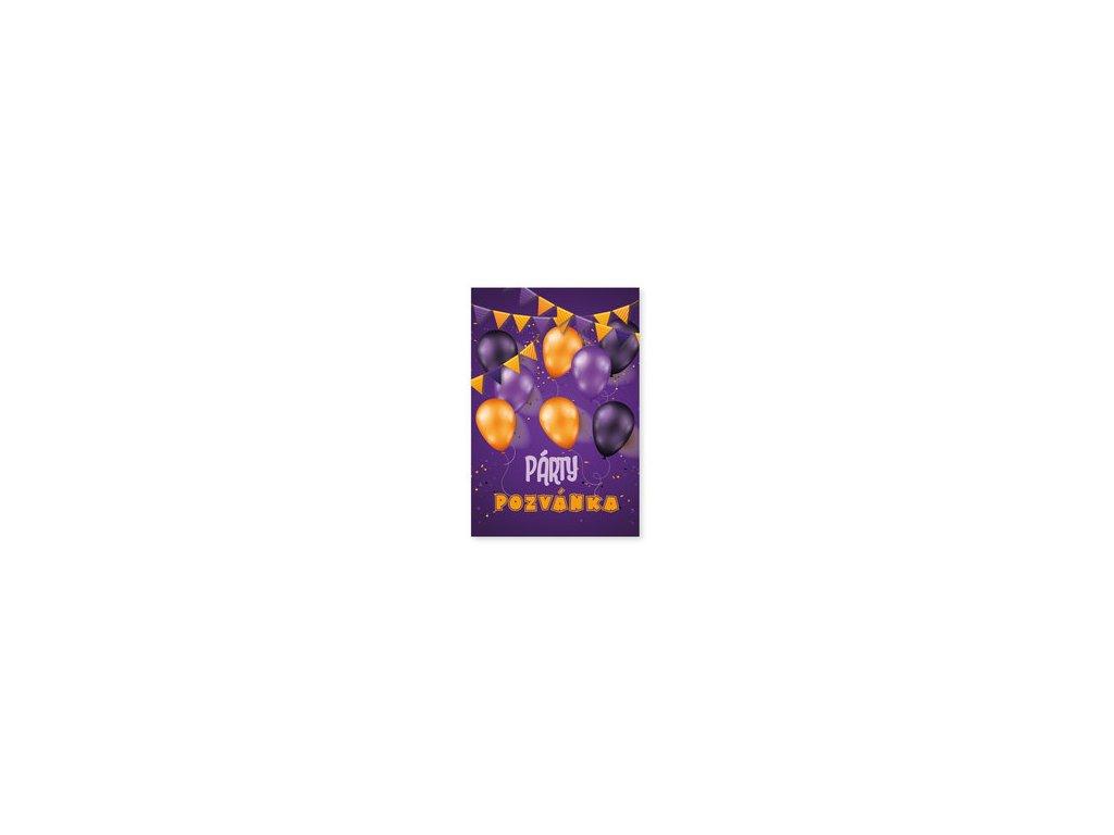 Párty pozvánky 6ks Balónky