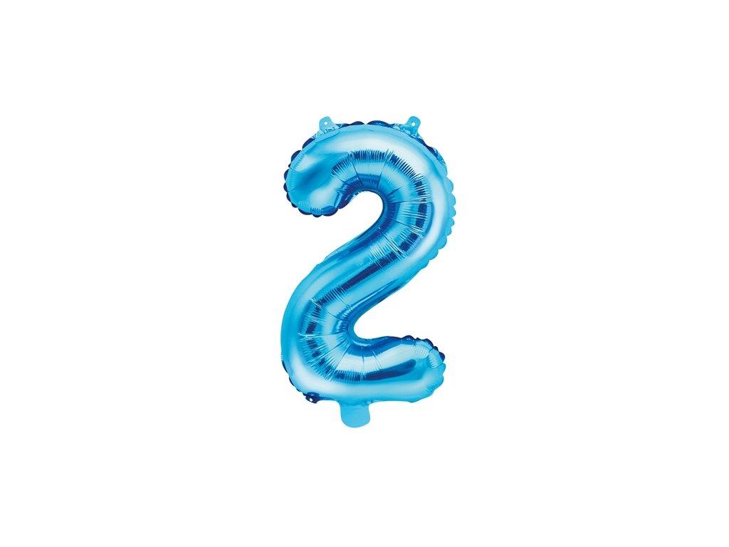 modrý balonek číslovka 1