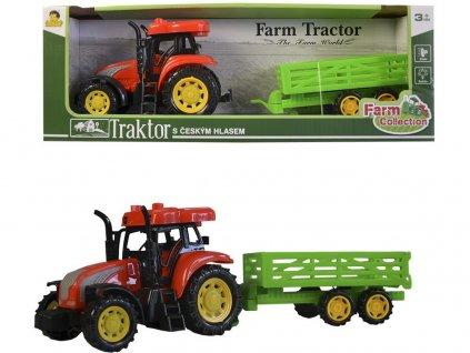 Traktor s přívěsem CZ IC, světlo zvuk, na setrvačník, 33cm