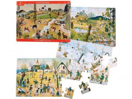 Puzzle Josef Lada, čtyři roční období
