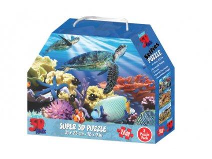 3D Puzzle Zvířecí království 3v1