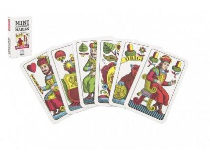 Mariáš MINI jednohlavý společenská hra karty v papírové krabičce 4,5x7cm