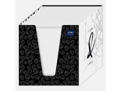 Kostka bílá 90x90x90mm v papírové krab. - mix designs