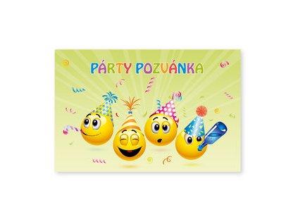 Párty pozvánky 6ks Smajlíci