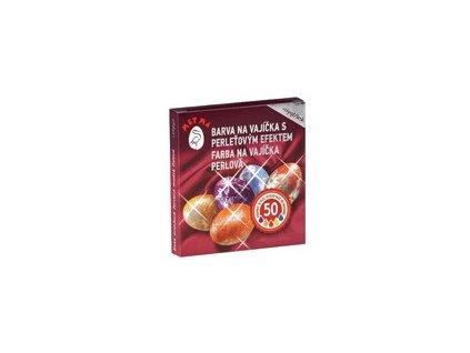 Barvičky na vejce s perleťovým efektem - 2druhy (zlato, stříbro)