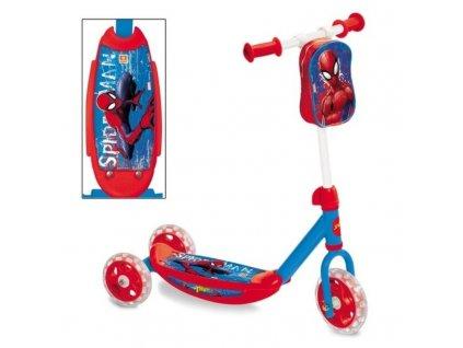 detska kolobezka trikolka s kapsou spiderman