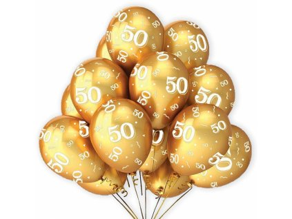 alvarak balonky zlate k 50 vyroci 7 ks