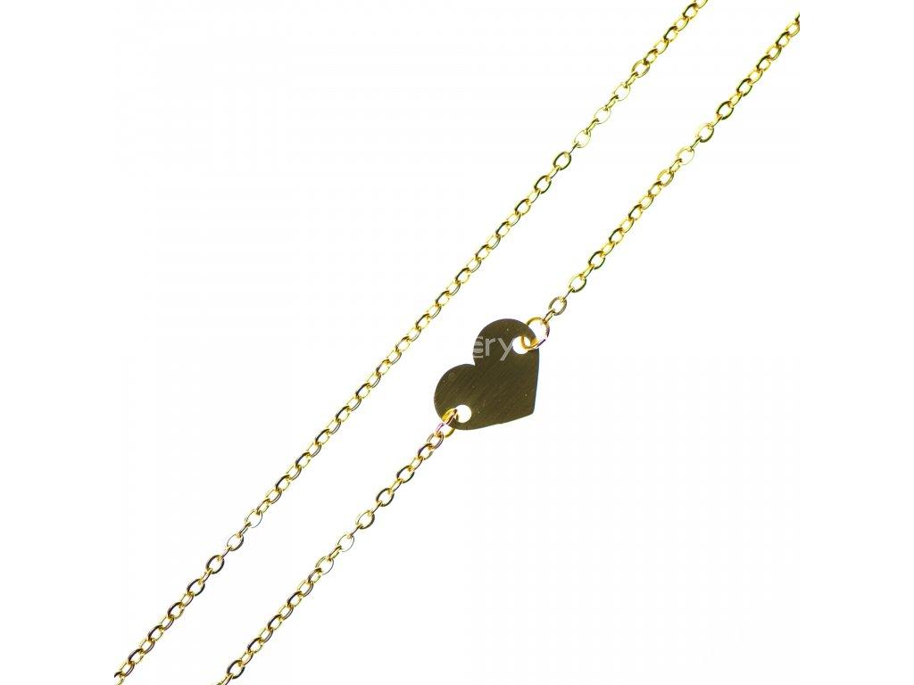 Minimalistický Glosery náhrdelník so srdiečkom, chirurgická oceľ 1,5mm
