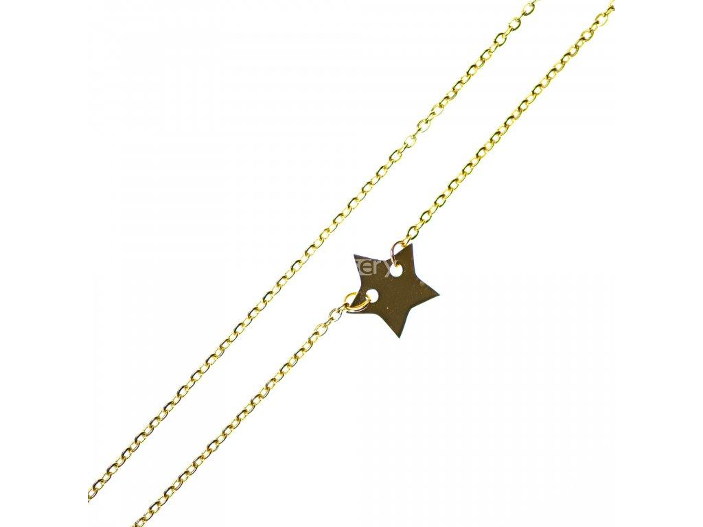 Minimalistický Glosery náhrdelník s hviezdičkou, chirurgická oceľ 1,5mm