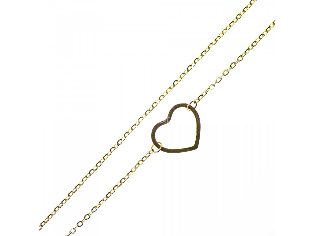 Minimalistický Glosery náhrdelník so srdcom, chirurgická oceľ 1,5mm
