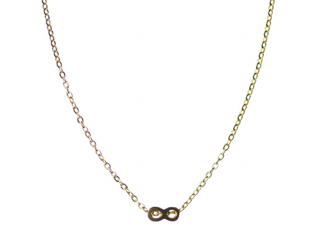 Minimalistický Glosery náhrdelník s nekonečno, chirurgická oceľ 1,5mm