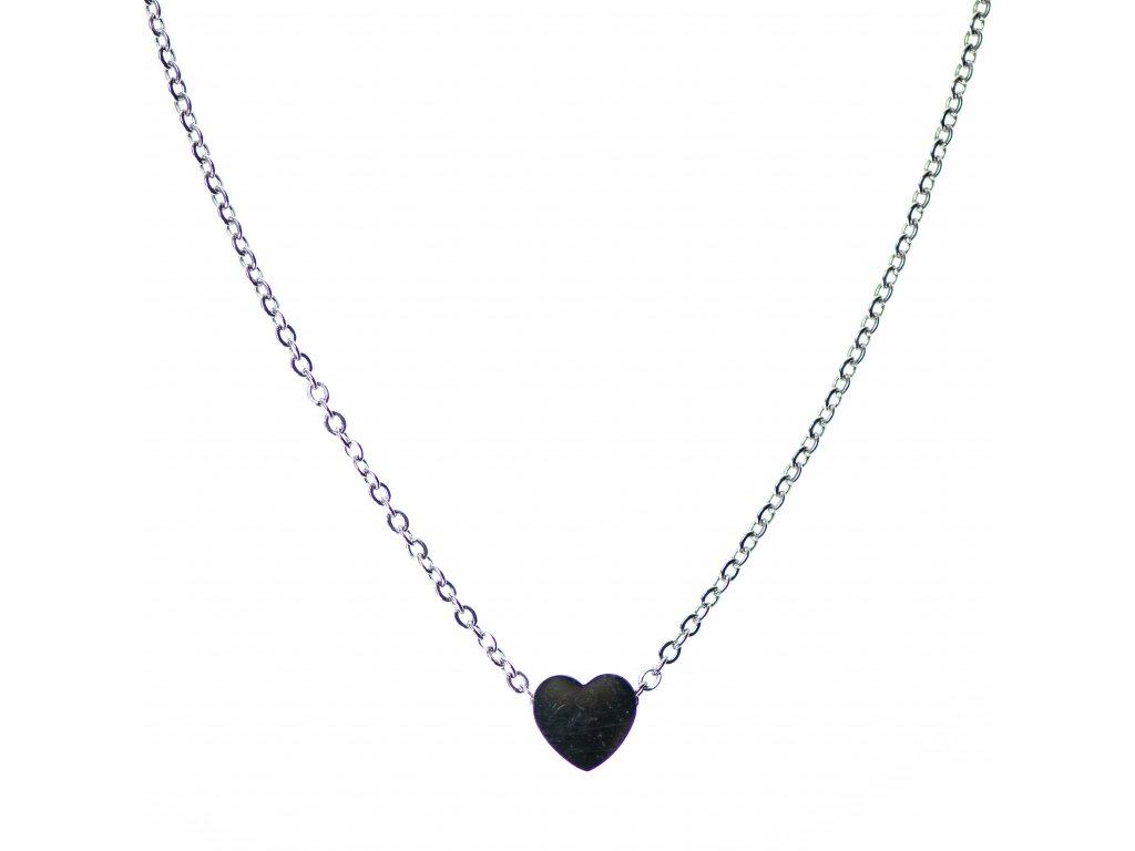 Minimalistický Glosery náhrdelník s mini srdiečkom, chirurgická oceľ 1,5mm