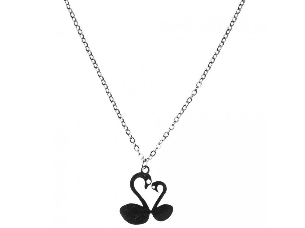Minimalistický Glosery náhrdelník Labute, chirurgická oceľ 1,5mm