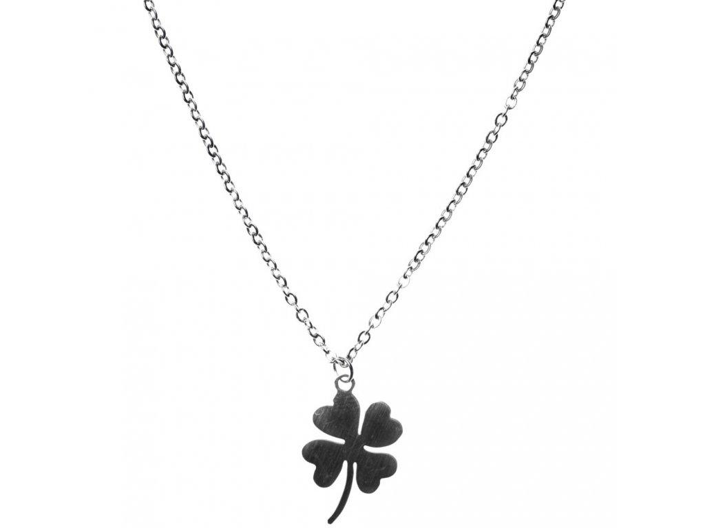 Minimalistický Glosery náhrdelník Štvorlístok, chirurgická oceľ 1,5mm