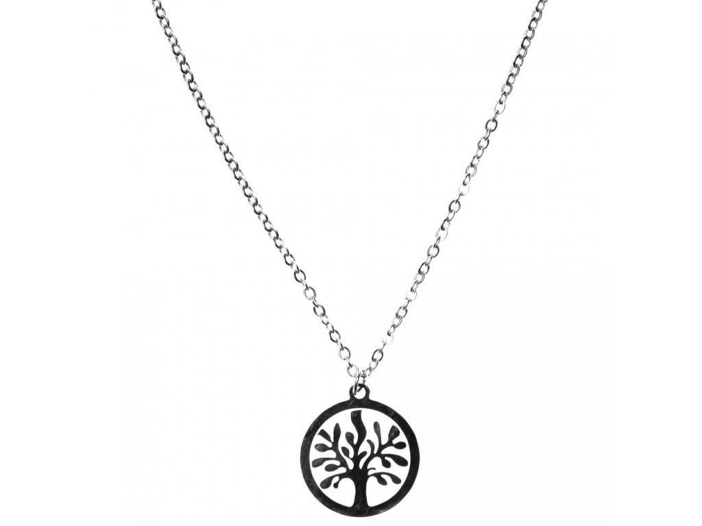 Minimalistický Glosery náhrdelník Strom života, chirurgická oceľ 1,5mm