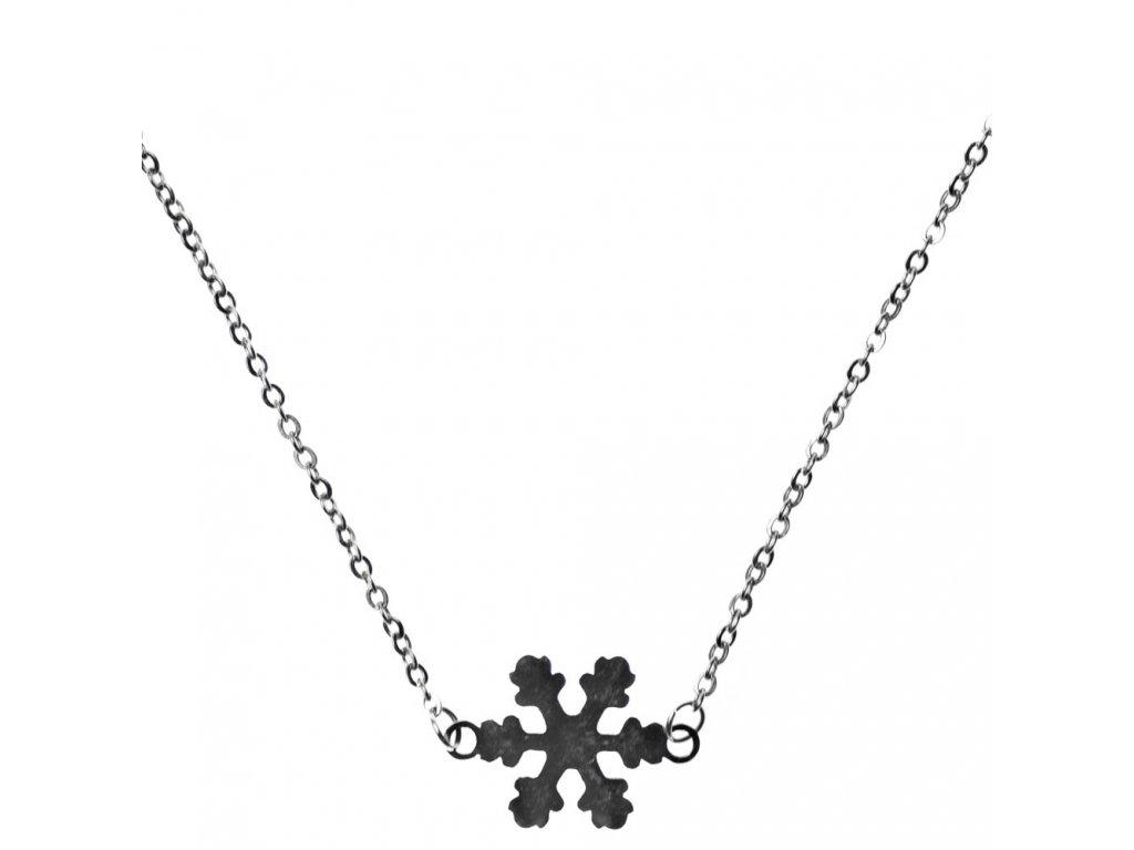 Minimalistický Glosery náhrdelník Snehová vločka, chirurgická oceľ 1,5mm