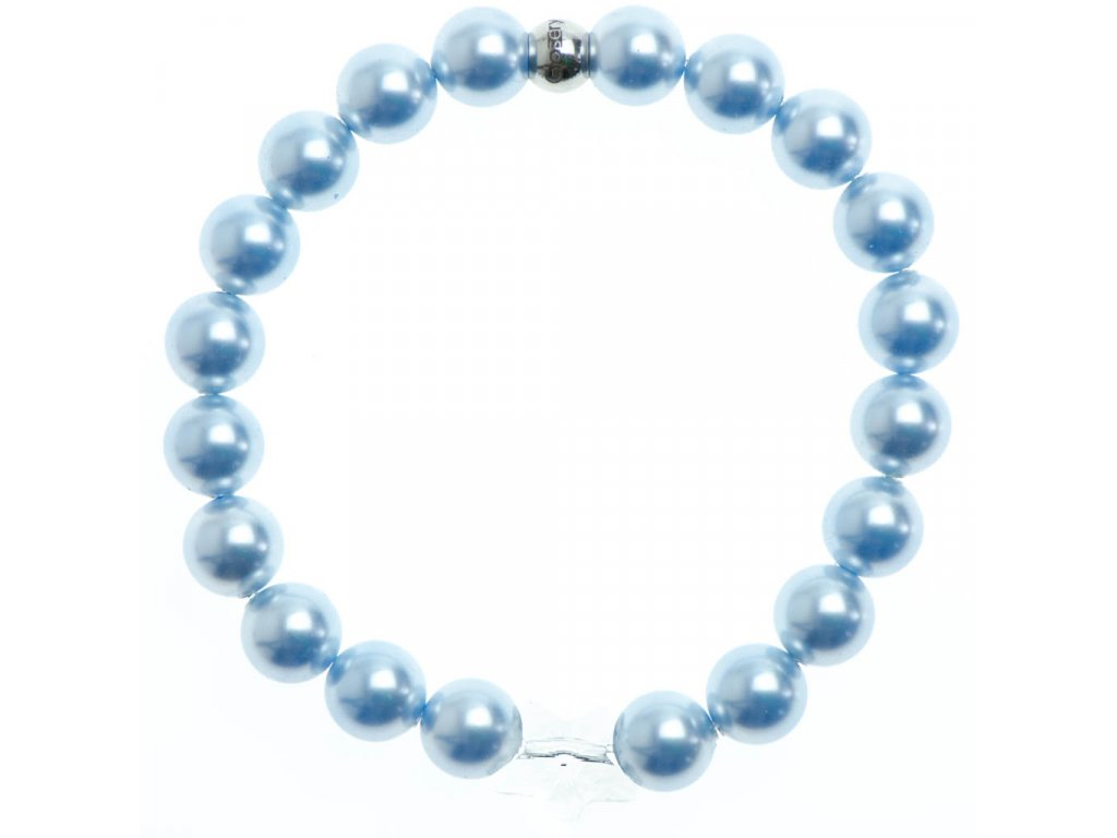 Glosery náramok s lesknúcim krištáľom hviezda od Swarovski®, perly od Swarovski® 8mm