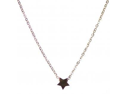 Minimalistický Glosery náhrdelník s mini hviezdou, chirurgická oceľ 1,5mm