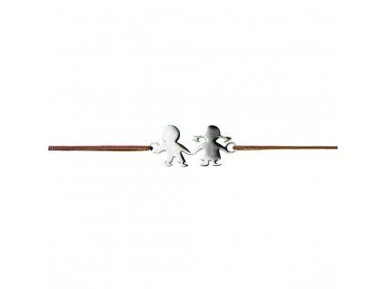 Šnúrkový minimalistický Glosery náramok DETI, chirurgická oceľ, šnúrka 0,8mm