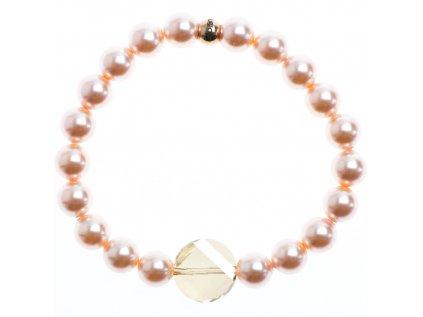 Glosery náramok s lesknúcim krištáľom od Swarovski®, perly od Swarovski® 8mm