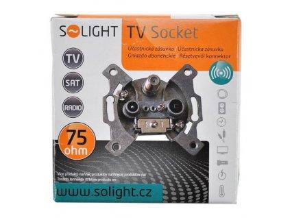 Solight účastnická zásuvka koncová se SAT, útlum: 3dB