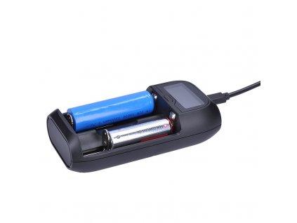 Solight nabíječka baterií Li-Ion, LiFePO4, Ni-MH/CD, AA, AAA, 18650, 2000mA, 2 kanály, LCD displej
