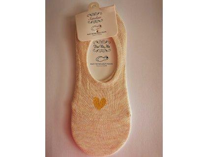Ne-kotníkové ponožky se srdíčkem